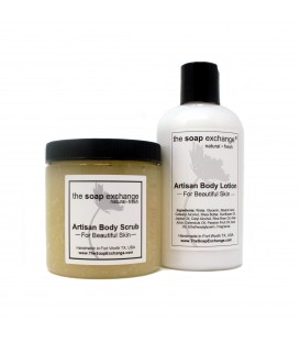 Body Scrub & Body Lotion Gift Set 2 Pc